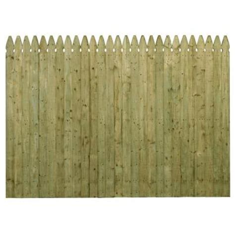 picket fence sections home depot barrette 6 ft x 8 ft pressure treated spruce pine fir 4