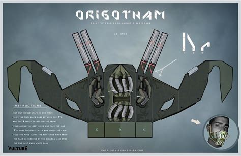 Papercraft Batman Mask - bat batman toys and collectibles origotham