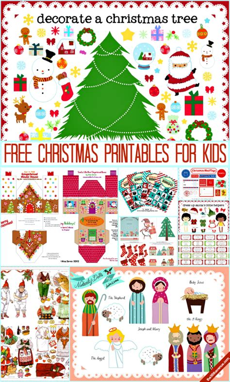 free printable christmas kids activities