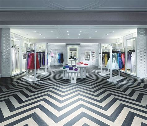 striking zig zag flooring made using expona design white