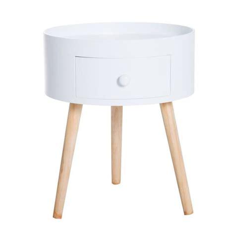 Table De Nuit Ronde by Chevet Table De Nuit Ronde Design Scandinave Tiroir