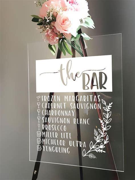 glass lucite  acrylic wedding decor  details