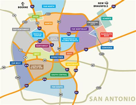 san antonio map san antonio zip codes surrounding areas pictures to pin on pinsdaddy
