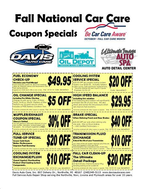 spa plymouth mi auto repair coupon specials davis auto care northville 48167