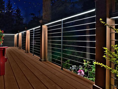 rail deck lighting railing lighting lighting ideas