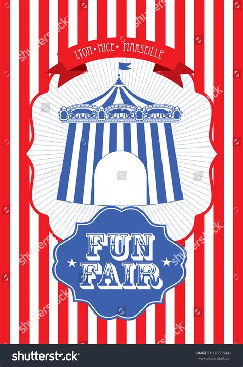 vintage circusfun fair fairground tent fun stock vector