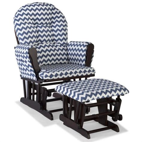 navy glider and ottoman custom glider and ottoman in espresso and navy 06550 6139