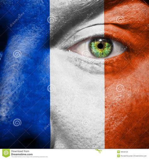 land französische speisesäle die franz 246 sische flagge die an gemalt wird bemannt
