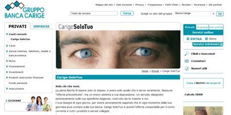 www carige on line conto corrente carige