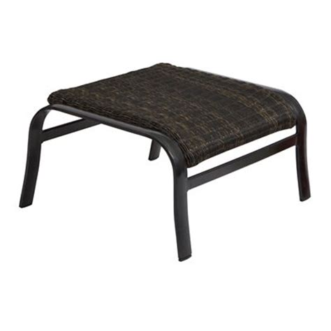 Outdoor Patio Footstools by Woodard 5j0486 Belden Woven Weave Outdoor Ottoman