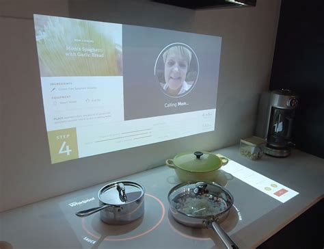 kitchen of the future ces 2015 whirlpool has created the interactive kitchen of