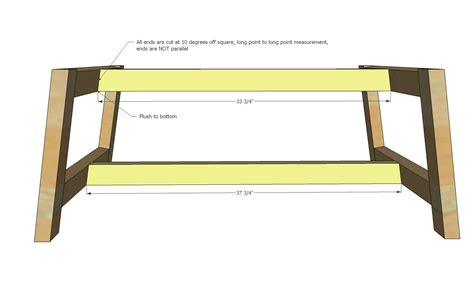 truss coffee table woodworking plans woodshop plans