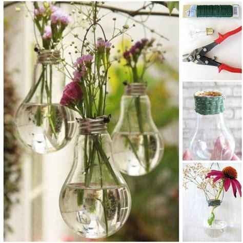nice hanging light bulb vase decorations creative spotting light bulb hanging vase