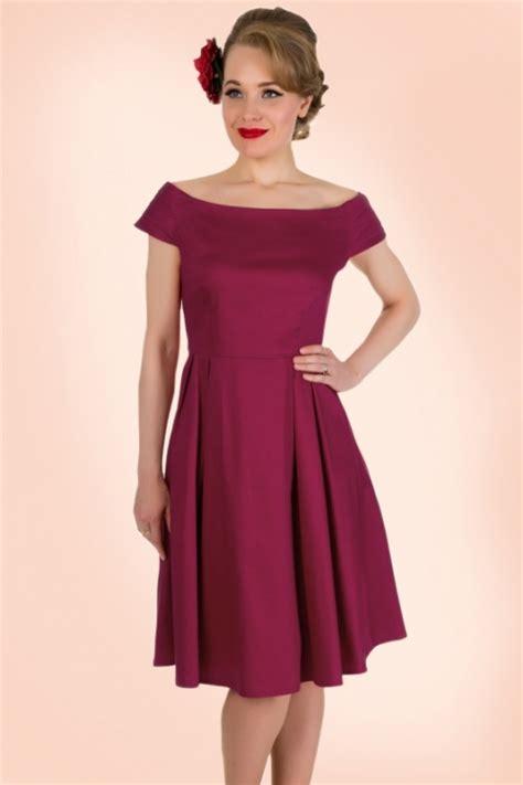 Marcia Dress 1 50s marcia dress in wine