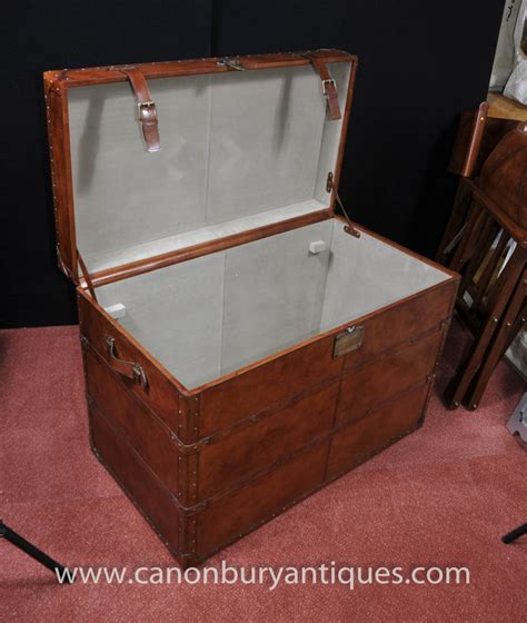 Luggage Trunk Coffee Table Big Leather Caign Luggage Trunk Storage Box Coffee Table