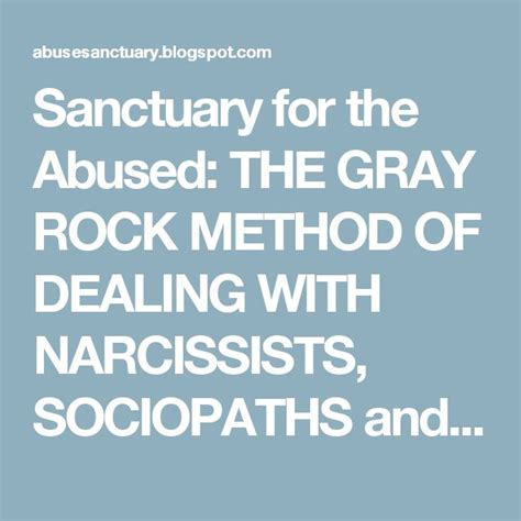 Sanctuary For The Abused How A Psychopath Conditions His | best 25 gray rock ideas on pinterest narcissistic abuse