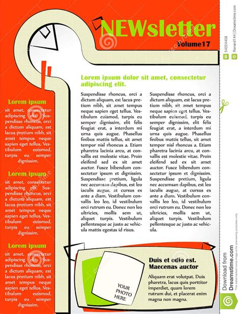 newsletter layout vector newsletter design template cartoon vector cartoondealer