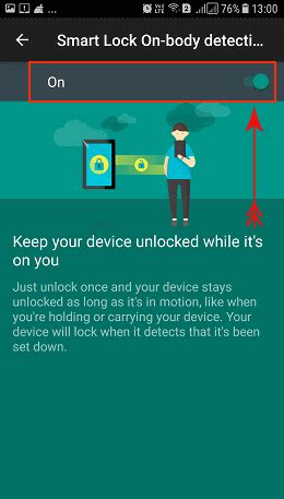 how to enable pattern lock on android phone without any app how to enable smart lock on body detection on android