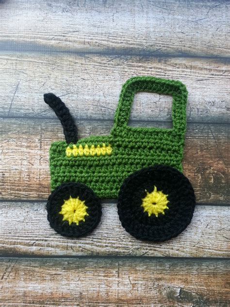free tractor knitting pattern tractor applique deere pattern beginner easy by