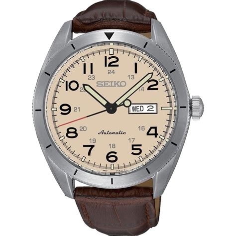 s automatic brown leather srp713k1