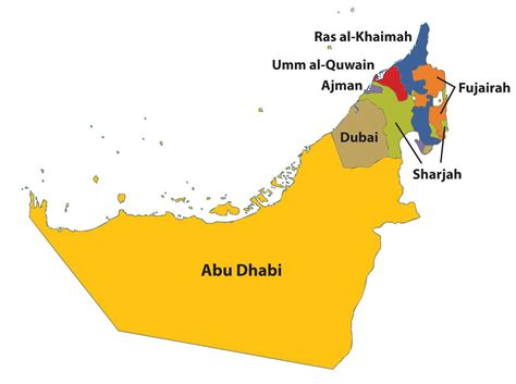 uae map united arab emirates saudi arabia map