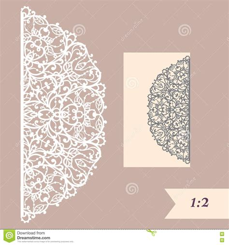 Wedding Card Paper Cutting Templates - wedding invitation or greeting card with abstract ornament