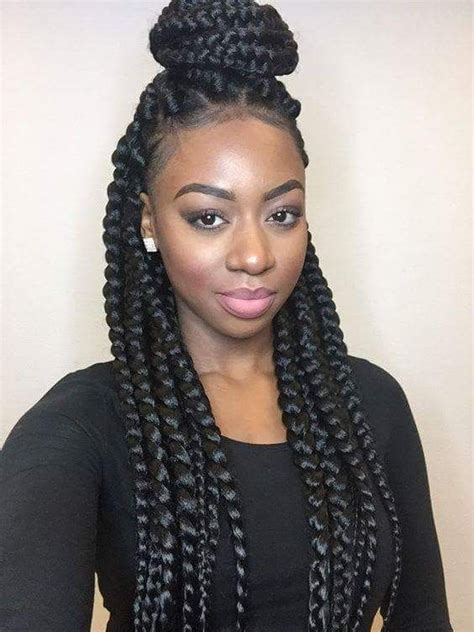 womens hairstyle the box style 25 best ideas about jumbo box braids on pinterest bo 238 te