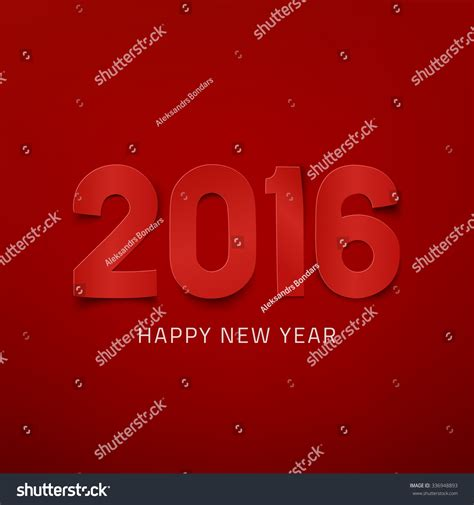 new year card template 2016 happy new year 2016 greeting card template vector
