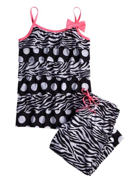 Zebra Piyama Set zebra dot pajama set pajamas robes pjs bras shop justice my style