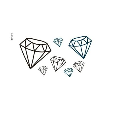tattoo diamond drawing 4 pcs creative 3d diamonds temporary tattoo stickers