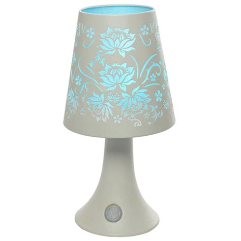 battery powered cordless colour changing led rose touch table desk lamp light