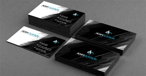 Great Business Card Black And Silver Template Free by 25 Stunning Black Business Cards For Print Design