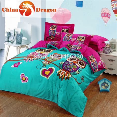 cute pattern bedding cartoon kids 3d cute owl pattern bedding full size crib
