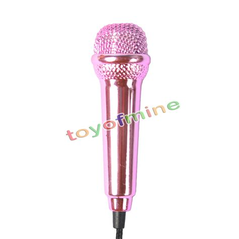 Microphone Mini Earphone 2in1 Karaoke Headset Sing quality3 5mm wired clip on mini lapel mini headset microphone for mobile phone laptop sing song