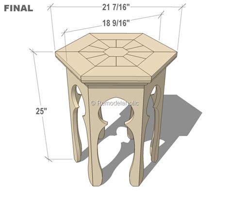 remodelaholic hexagonal moroccan side table plans