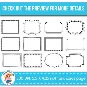 Task Card Templates Editable 100 By Alina V Design And Resources Task Card Template 2