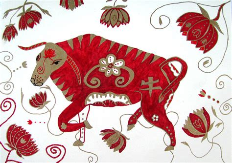 chinese year of the ox drawing by barbara giordano