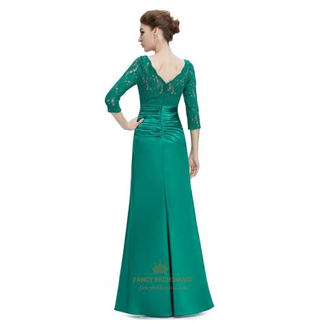 green cocktail dresses with sleeves emerald green 3 4 sleeves illusion neckline prom dresses