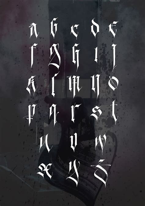 tattoo fonts gothic i m proud to present my personal alphabet it is