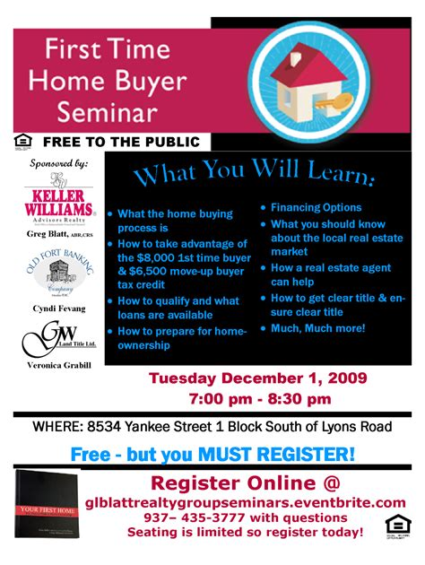 time home buyer s seminar tickets dayton eventbrite
