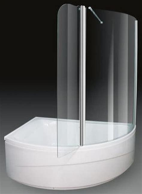 corner bath with shower screen corner shower bath with screen left 1500x1000mm