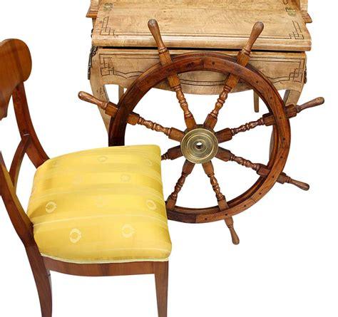 volante della nave volante della nave legno ottone ruota barca 93 centimetri