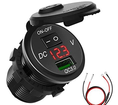 boat car quick charge 3 0 usb charger socket chgeek 18w 12v 24v quick charge 3 0