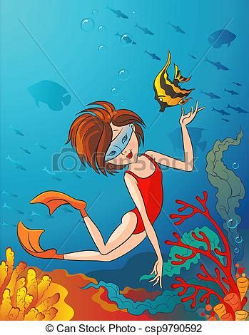 swimming illustrations and clipart can stock photo vector illustration of kid swimming underwater the