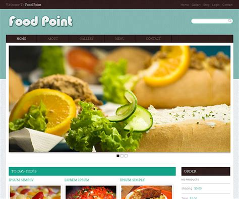 25 Restaurant Cafe Html Website Templates Free Premium Free Cooking Website Templates