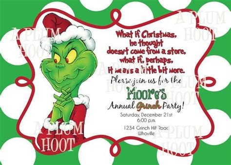 Grinch Card Template 8 best images of grinch invitations