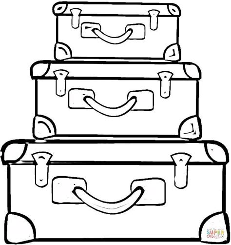 suitcases coloring page free printable coloring pages