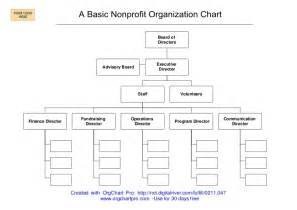 board of directors organizational chart template a simple nonprofit organizational chart