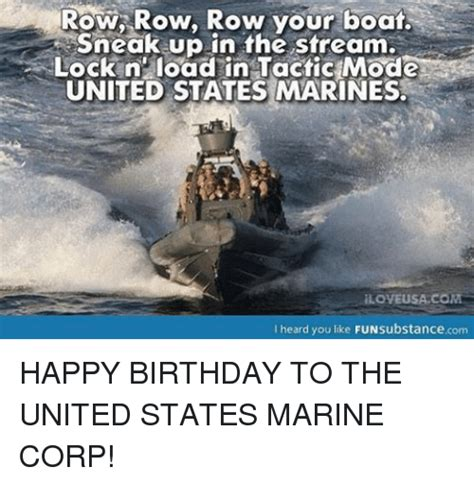 row row your boat marines row row row your boat sneak up in the stream lock n load