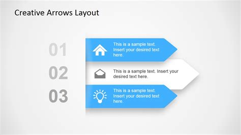 layout for ppt creative arrows layout for powerpoint slidemodel